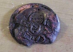Broken Copper Clay Pendant