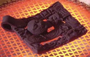 firing copper clay pendant