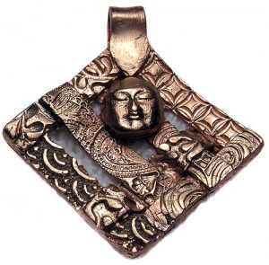 Finished art clay copper pendant