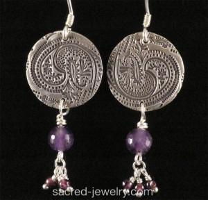 Fine SIlver Paisley earrings