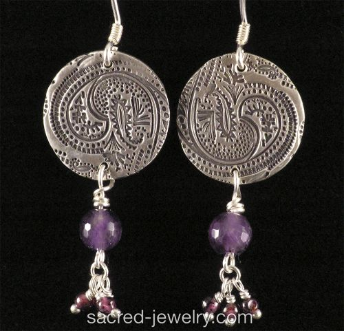 Fine SIlver Paisley earrings