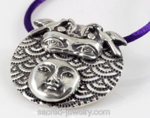 Day Dreaming Fine Silver Pendant by Yol Swan at Sacred Jewelry & Yoga Designs