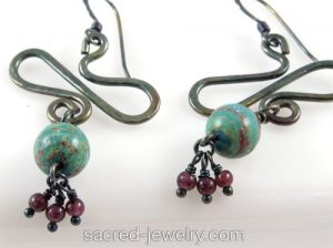Earth Ascension Earrings by Sacred Jewelry & Yoga Designs