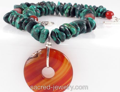 Agate & Turquoise Necklace