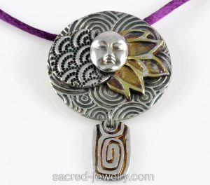 Five Elements Fine Silver Pendant by Sacred Jewelry & Yoga Designs