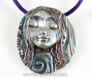 Moon Spirit Pure SIlver Pendant by Sacred Jewelry & Yoga Designs