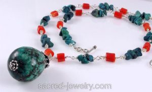 Turquoise Necklace by Sacred Jewelry & Yoga Designs