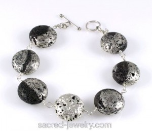 Lava Stones with Pure Silver by Sacred Jewelry & Yoga Designs