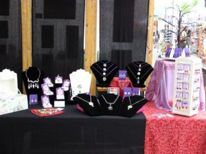 Sacred Jewelry & Yoga Designs Booth - Art in the Park 2010