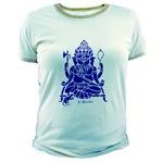 Blue Ganesha T-Shirt design from Sacred Jewelry & Yoga Designs