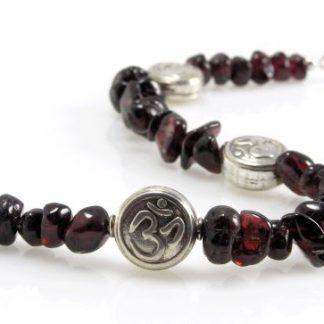 Om Garnet Bracelet