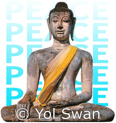 Peace Buddha by Yol Swan