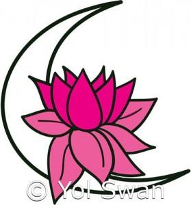 Lotus Moon by Yol Swan