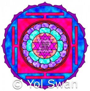 Sri Yantra Batik by Yol Swan